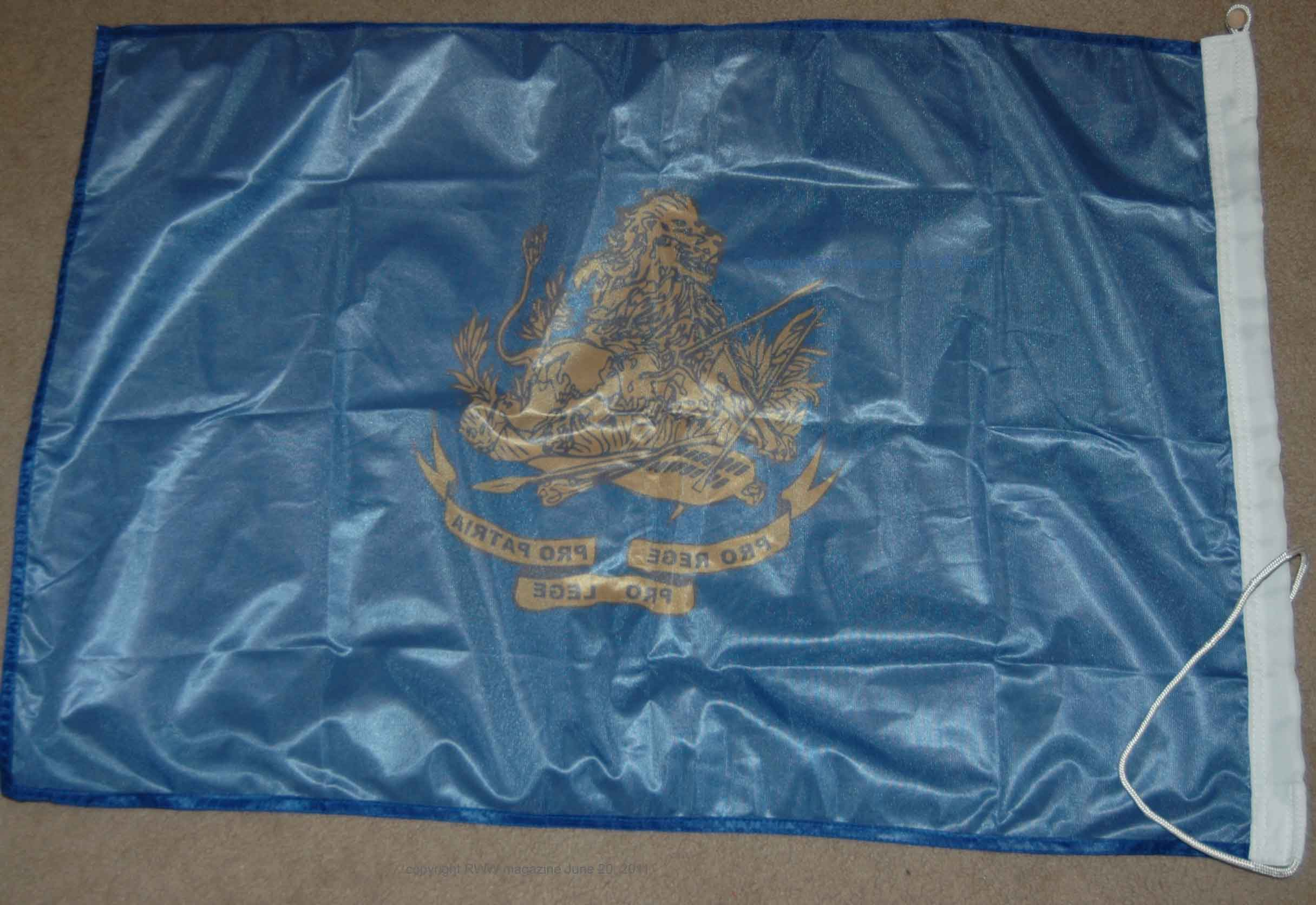 flag for rhodesia from rhodesian worldwide back view